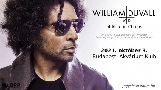 NEW DATE - William DuVall of Alice in Chains