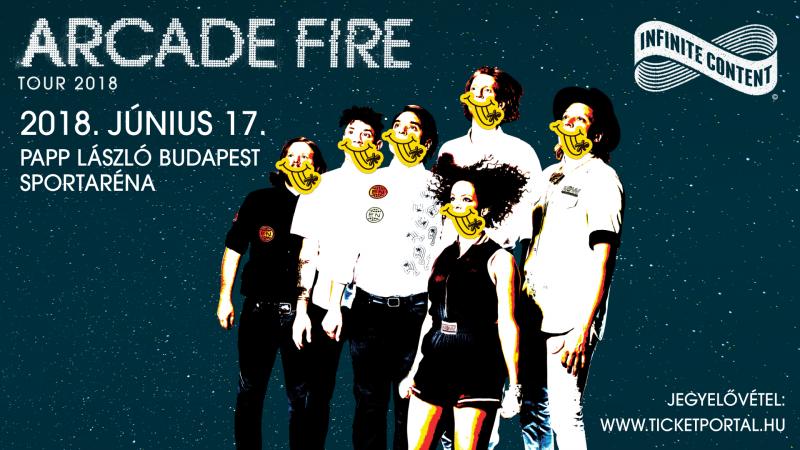 AZ ARCADE FIRE ELŐSZÖR MAGYARORSZÁGON! – INFINITE CONTENT TOUR 2018